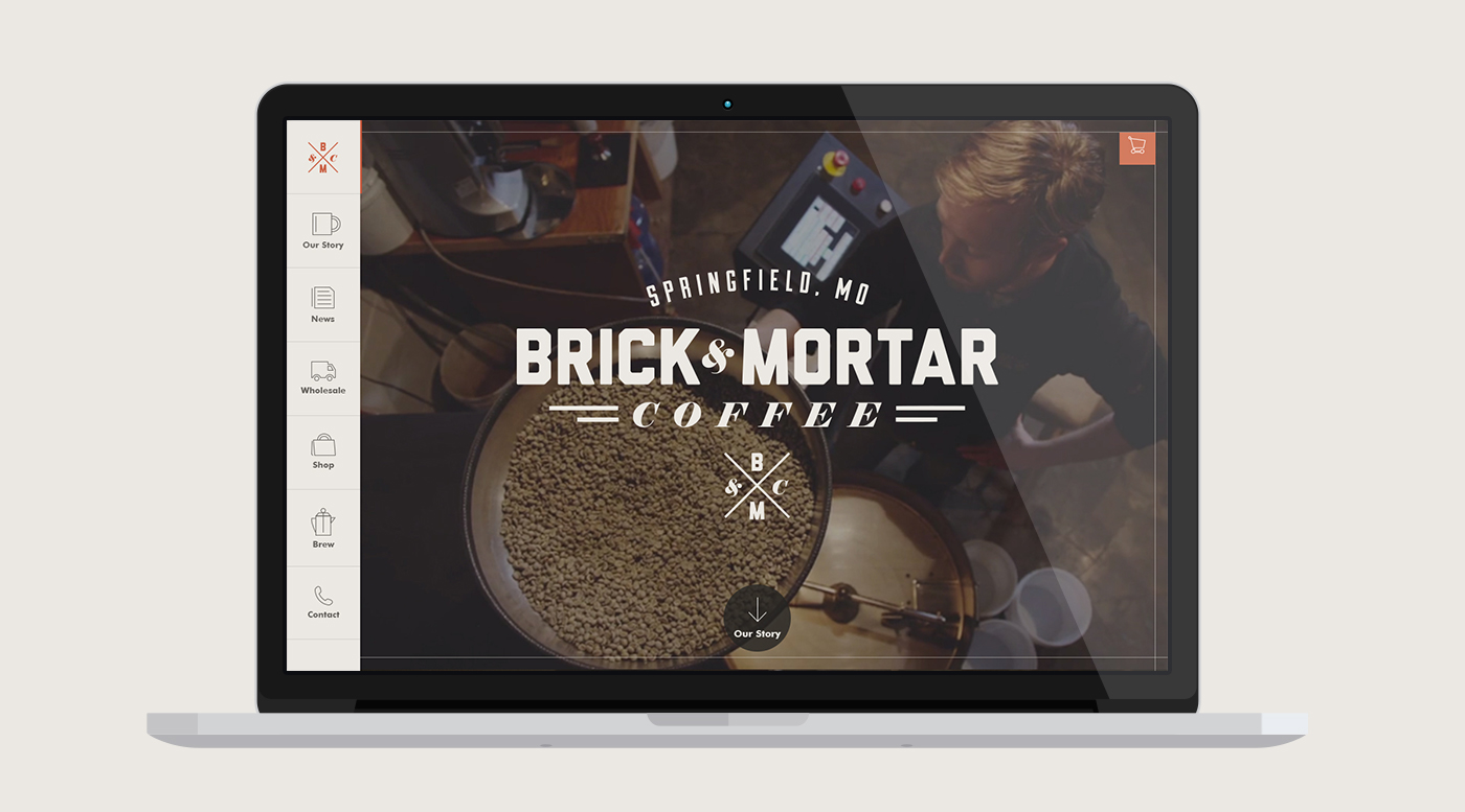 Website Design for Brick & Mortar Coffee