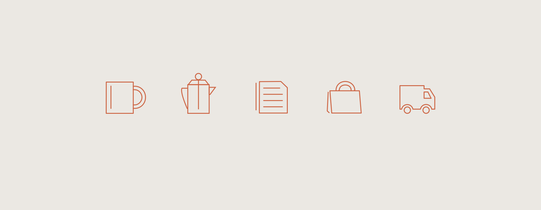Custom Icons for Brick & Mortar Coffee