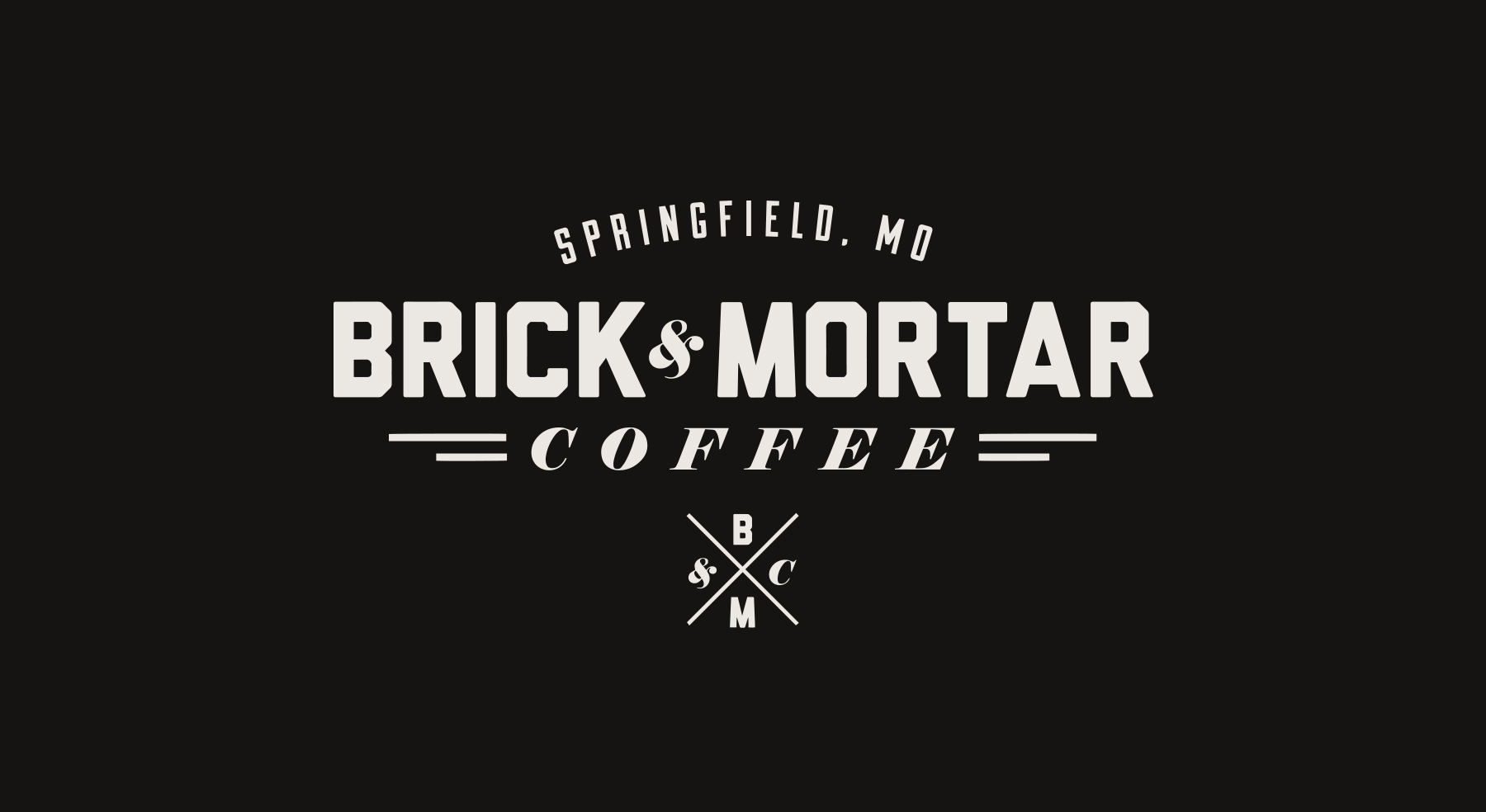 Brick & Mortar Coffee Branding