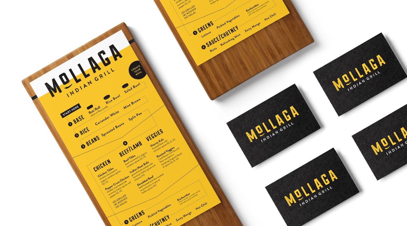 Menu Design for Indian Restaurant