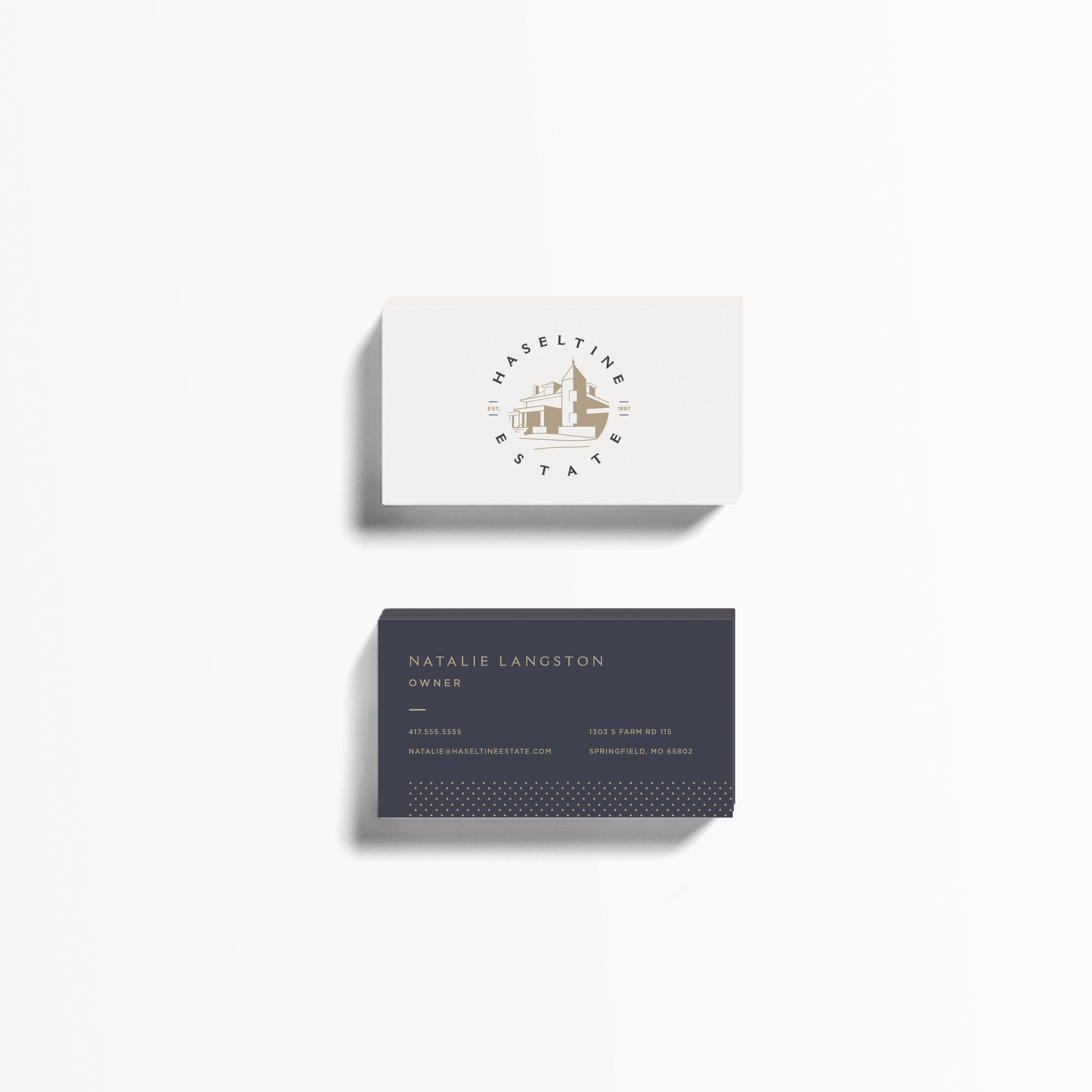 Haseltine Estate Business Cards