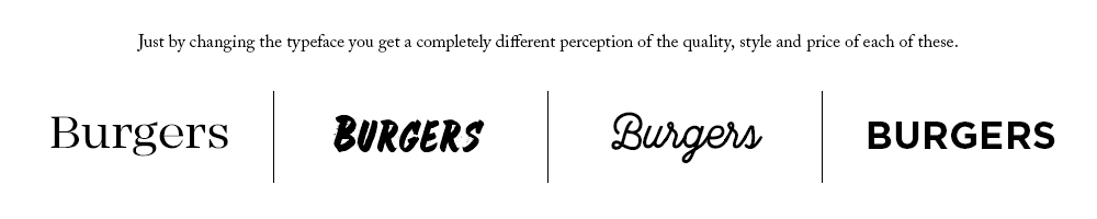 Example of how a typeface can affect your perception