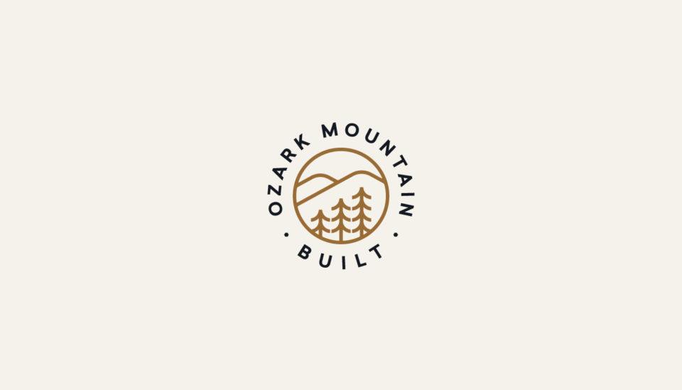 logo design, mountains, ozarks, construction logo, building brand