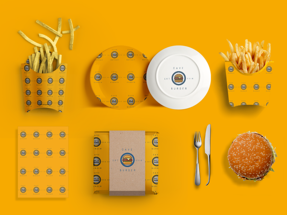 fast food restaurant branding by Amr Ashraf