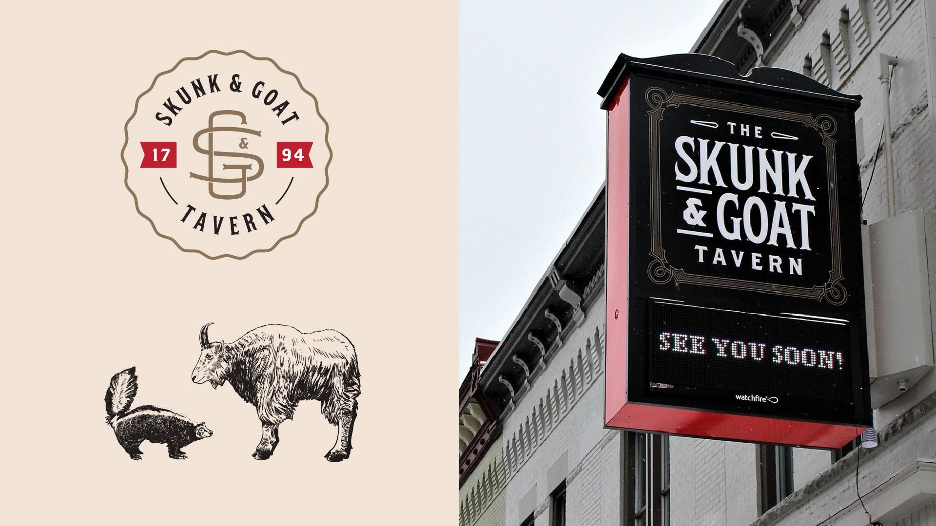 skunk-goat-signage