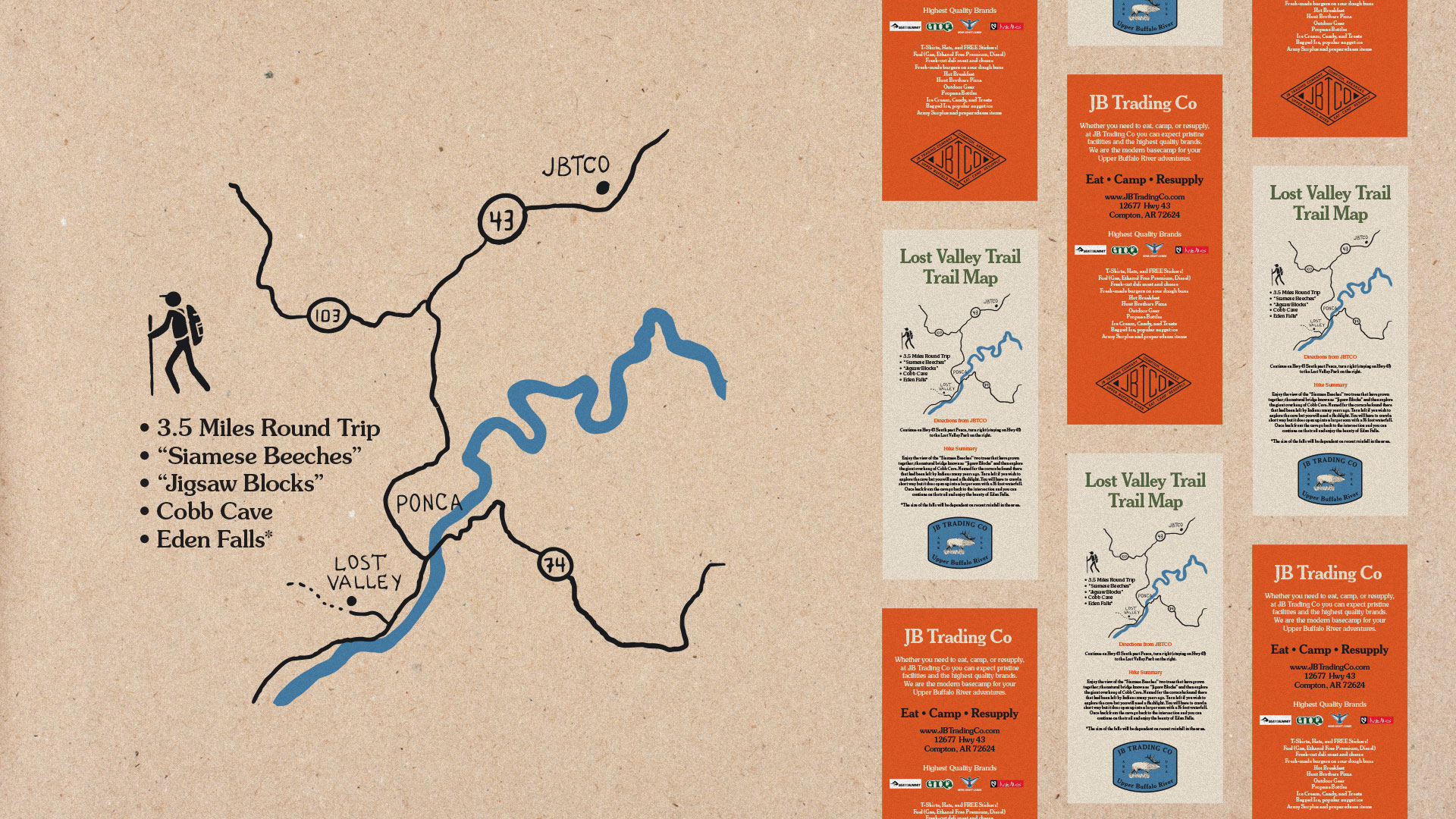 Lost Valley Map, Longitude Branding, Springfield, MO