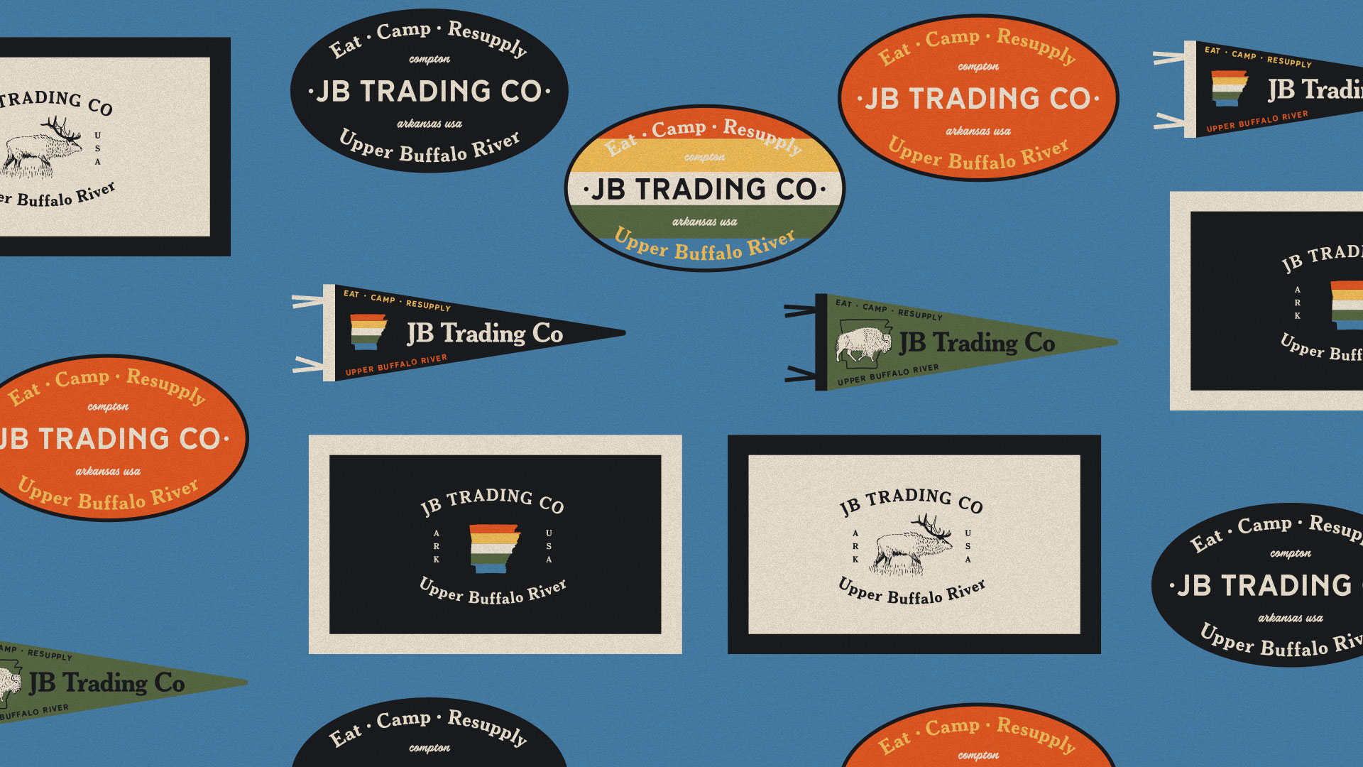 Stickers, Patches, & Pennants for JB Trading Co by Longitude Branding