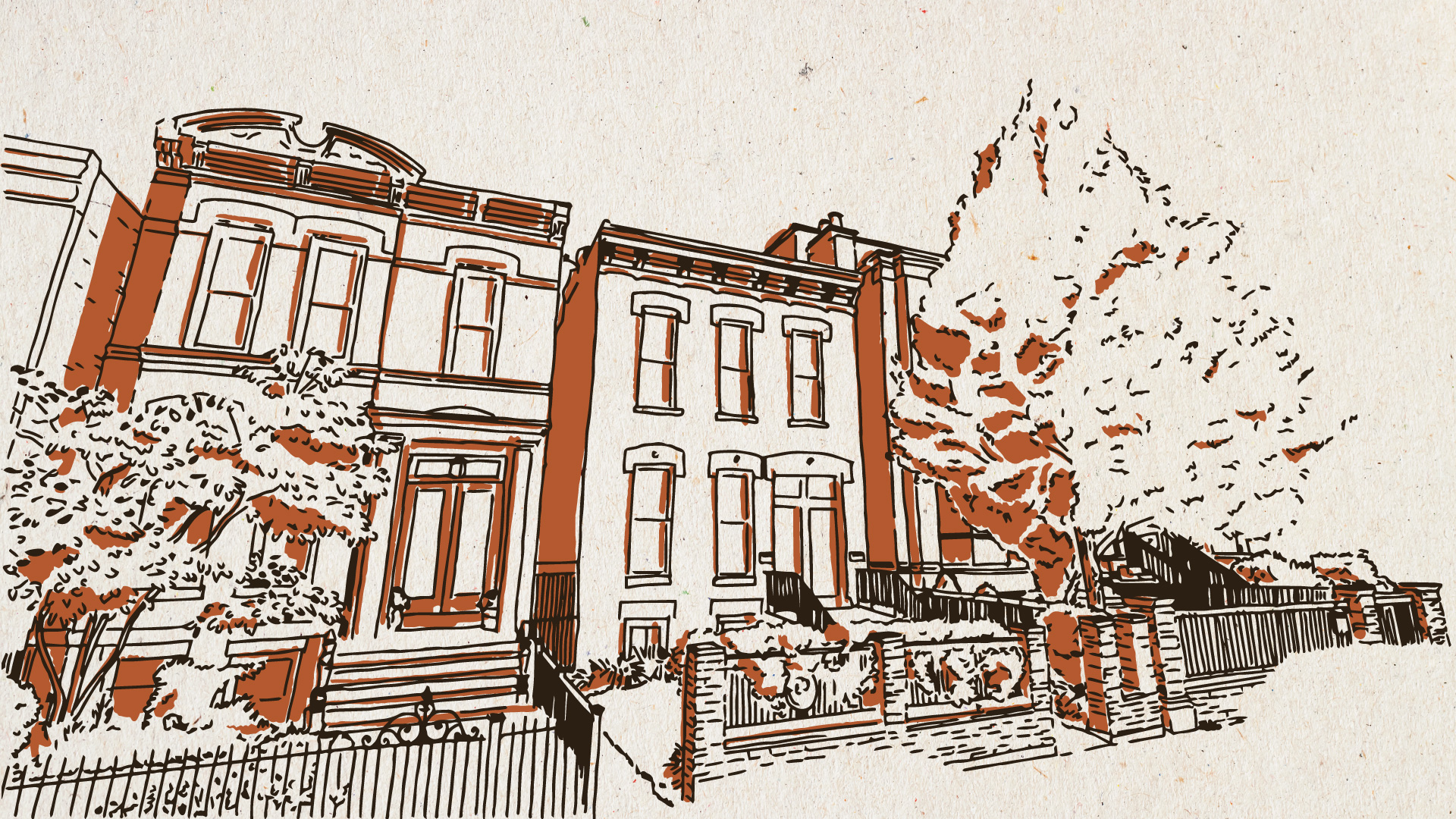 illustration of chicago street