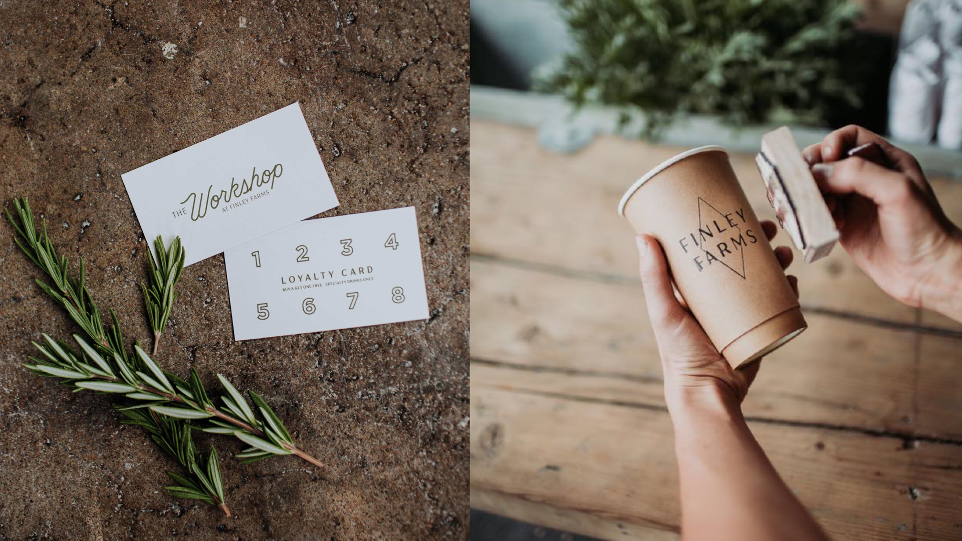 Stamped Coffee Cup & Loyalty Card
